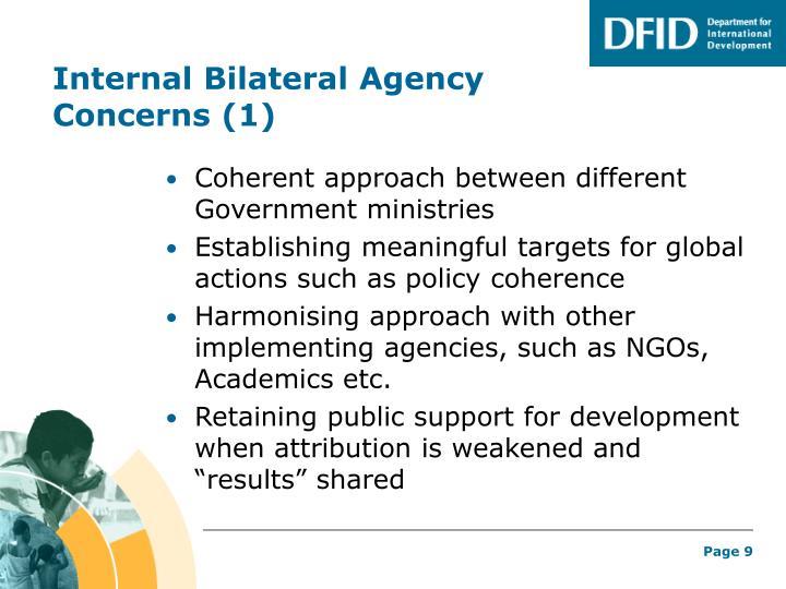 Internal Bilateral Agency Concerns (1)