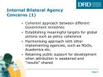internal bilateral agency concerns 1