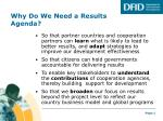 why do we need a results agenda