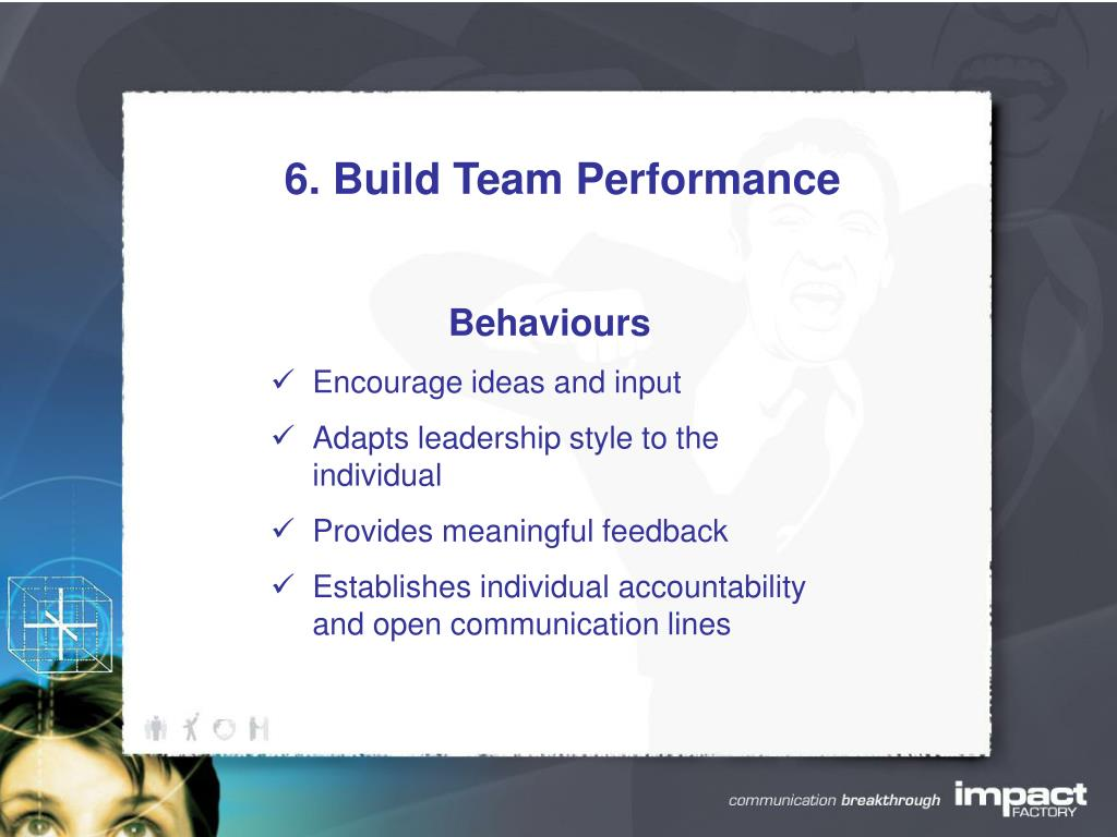 6. Build Team Performance