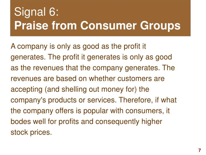 Signal 6: