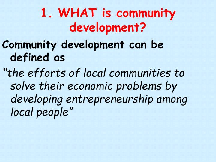 1 what is community development