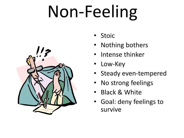 Non-Feeling