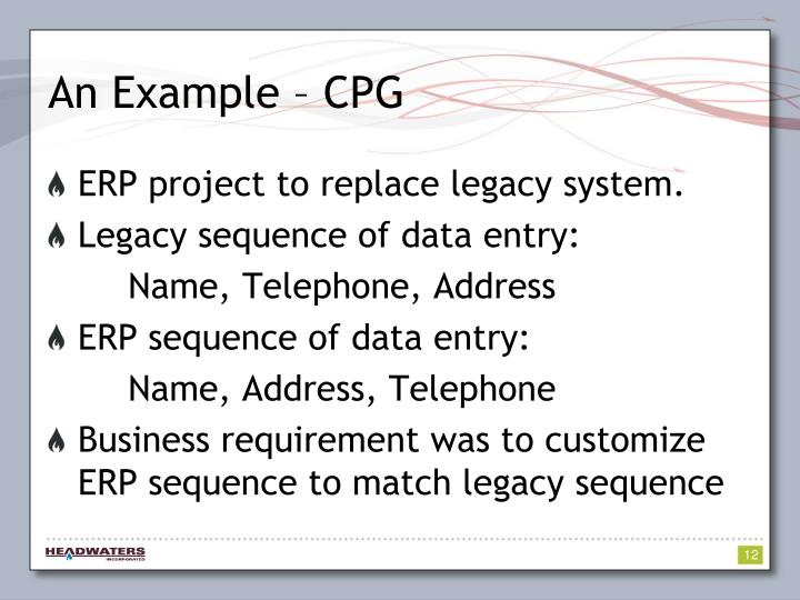 An Example – CPG