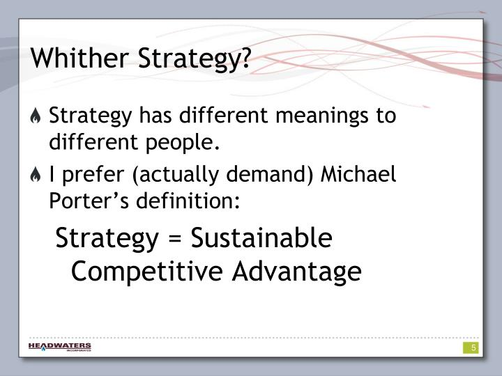 Whither Strategy?