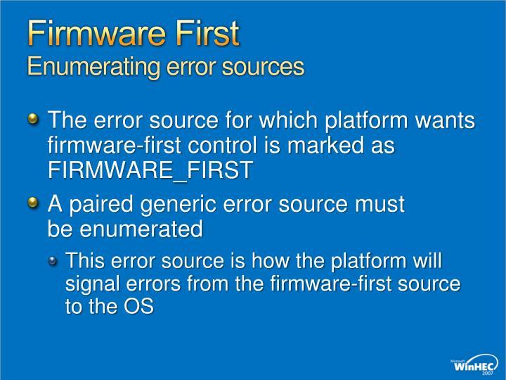 Firmware First