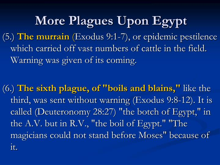 More Plagues Upon Egypt