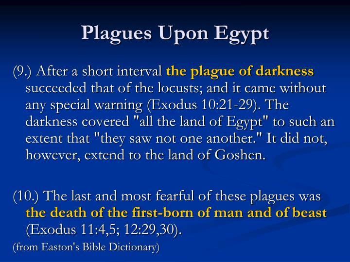 Plagues Upon Egypt