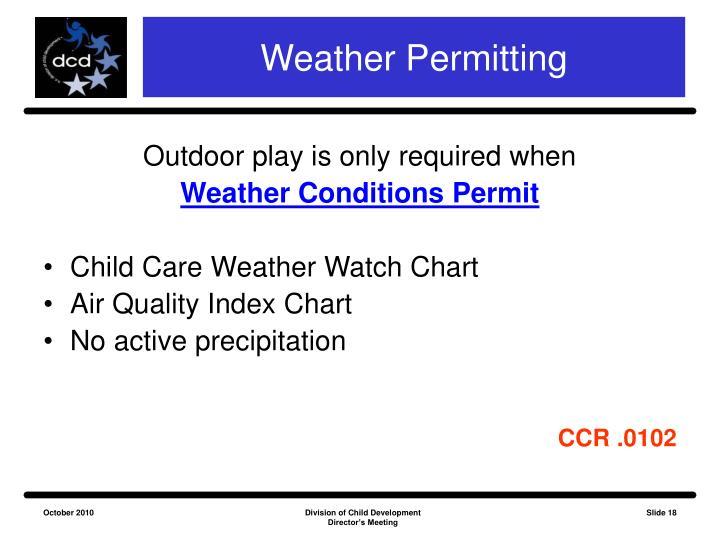 Weather Permitting
