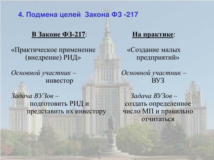 В Законе ФЗ-217