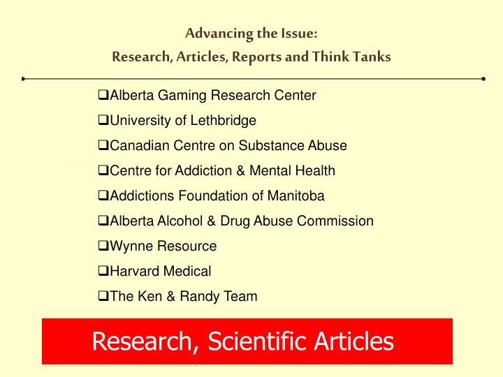 Research, Scientific Articles