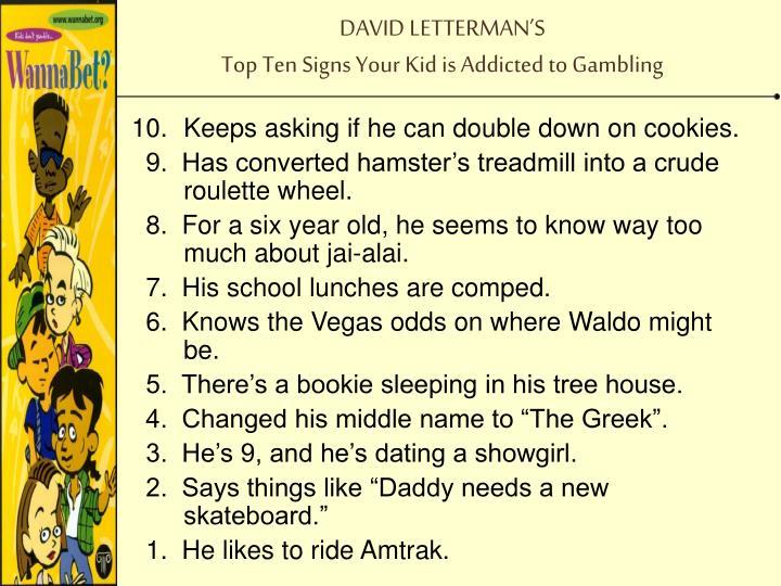 DAVID LETTERMAN'S