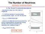 the number of neutrinos big bang nucleosynthesis
