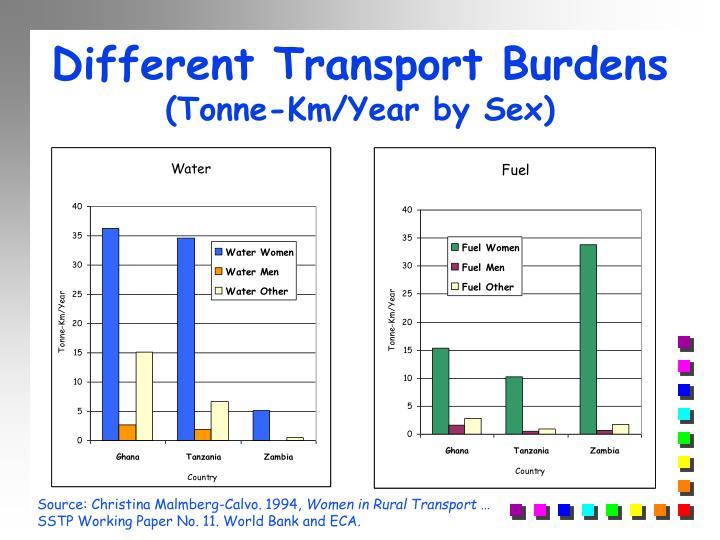 Different Transport Burdens