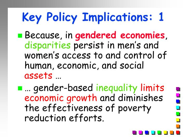 Key Policy Implications: 1