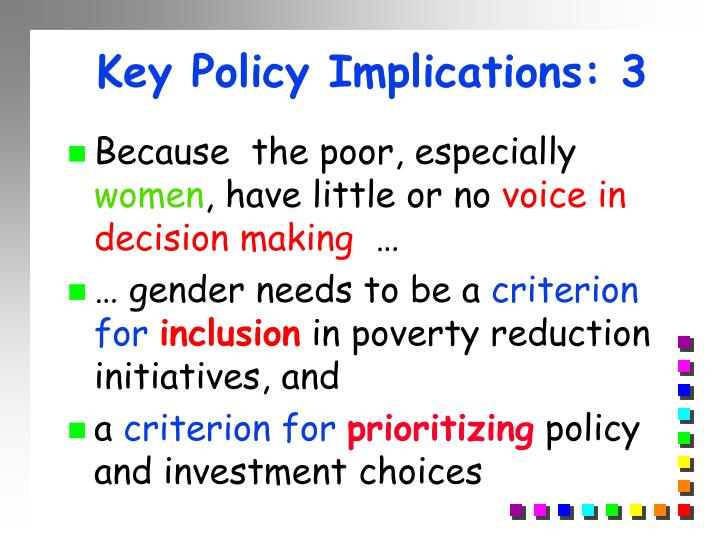 Key Policy Implications: 3