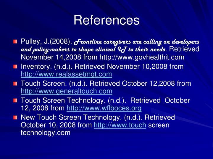 PowerPoint Presentation On Touch Screen Technology