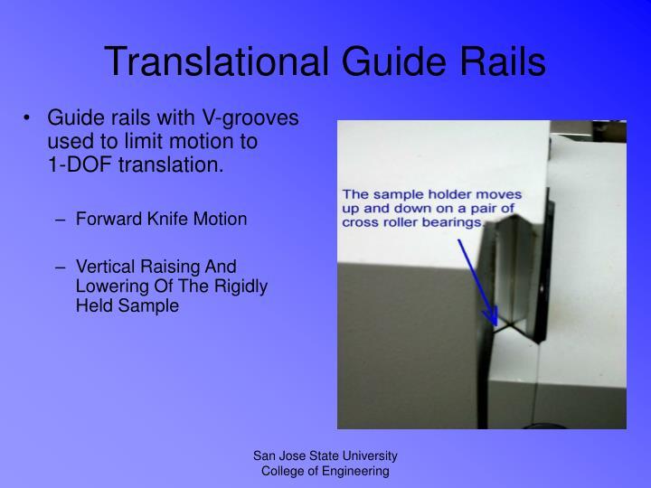 Translational Guide Rails