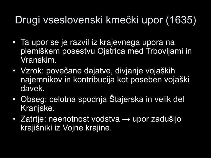 Drugi vseslovenski kmečki upor (1635)
