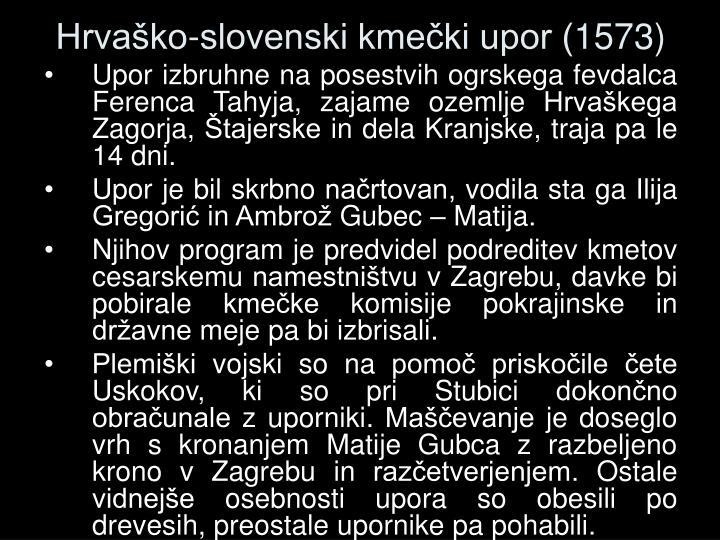 Hrvaško-slovenski kmečki upor (1573)