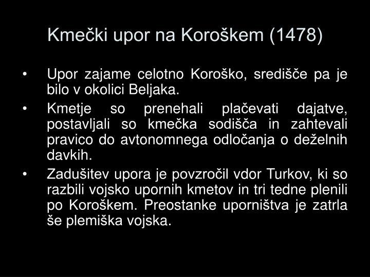 Kmečki upor na Koroškem (1478)