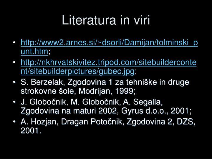 Literatura in viri