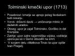 tolminski kme ki upor 1713