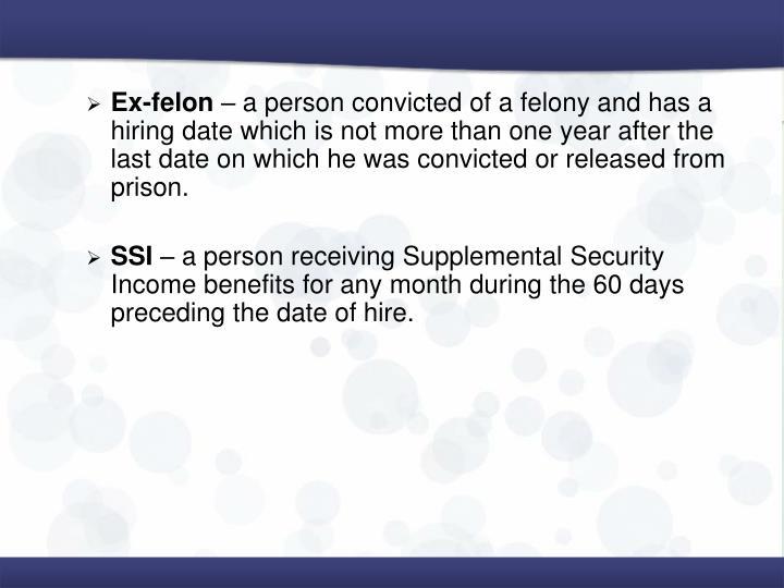 Ex-felon