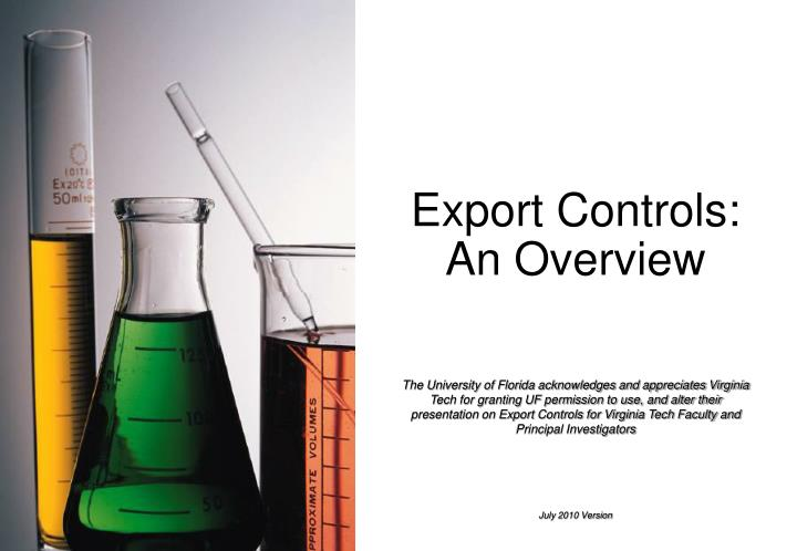 Export controls an overview