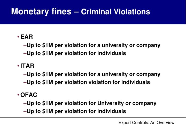 Monetary fines –