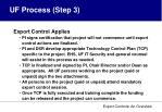 uf process step 3