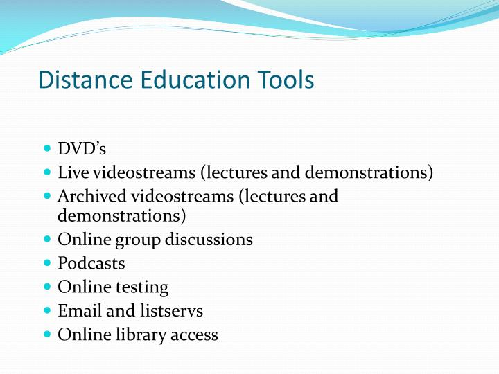 Distance Education Tools