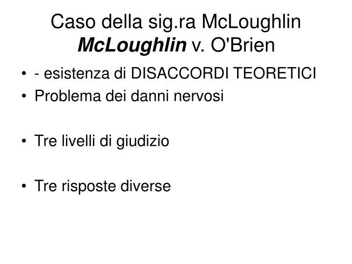 Caso della sig.ra McLoughlin