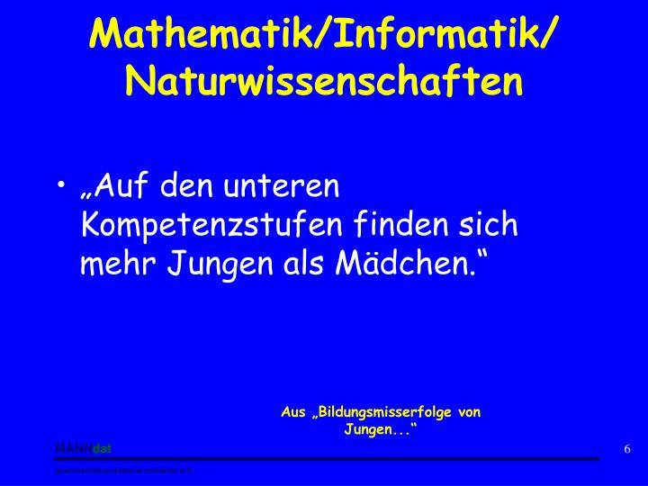 Mathematik/Informatik/