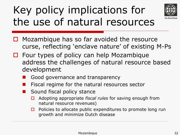Key policy implications for
