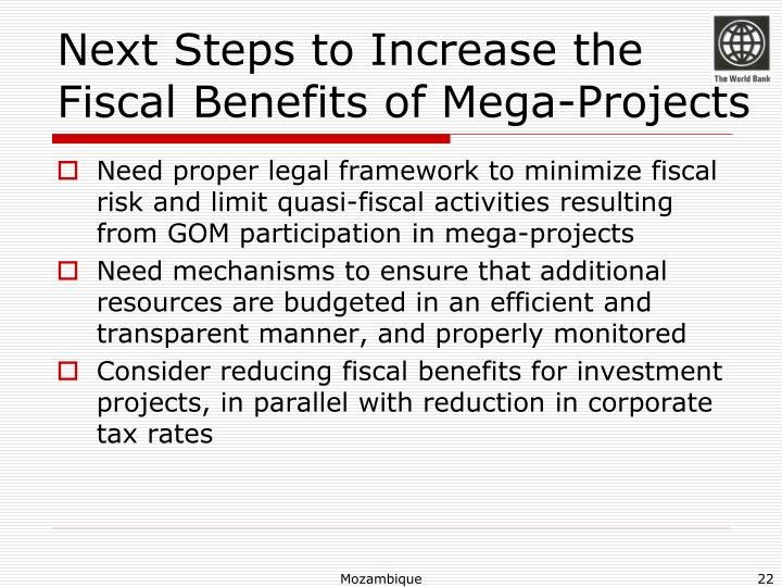 Next Steps to Increase the Fiscal Benefits of Mega-Projects