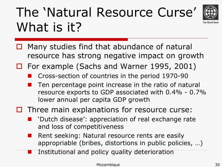 The 'Natural Resource Curse'