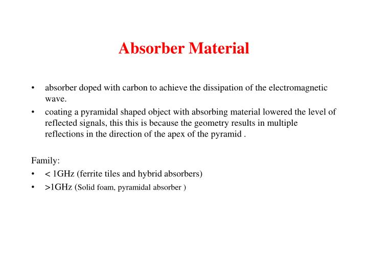 Absorber Material