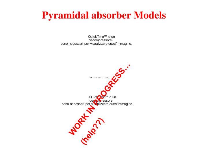 Pyramidal absorber Models