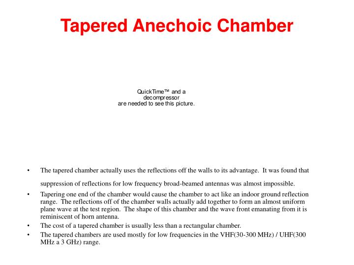Tapered Anechoic Chamber
