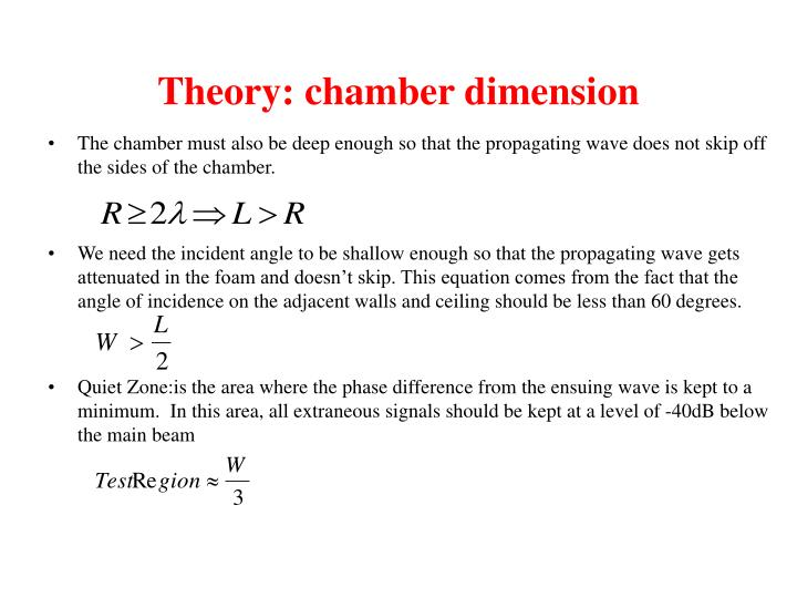 Theory: chamber dimension