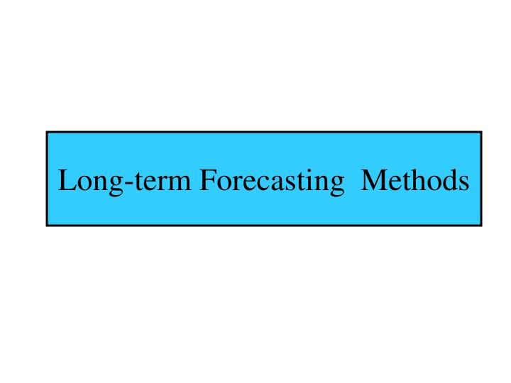 Long-term Forecasting  Methods