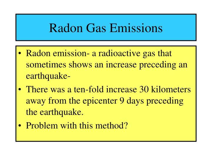 Radon Gas Emissions