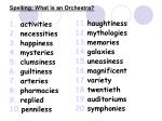 spelling what is an orchestra