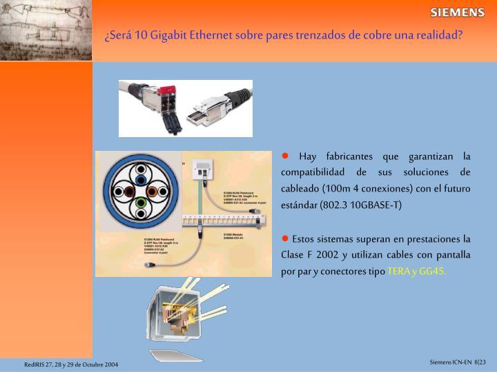 ¿Será 10 Gigabit Ethernet sobre pares trenzados de cobre una realidad?