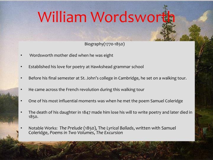 William Wordsworth
