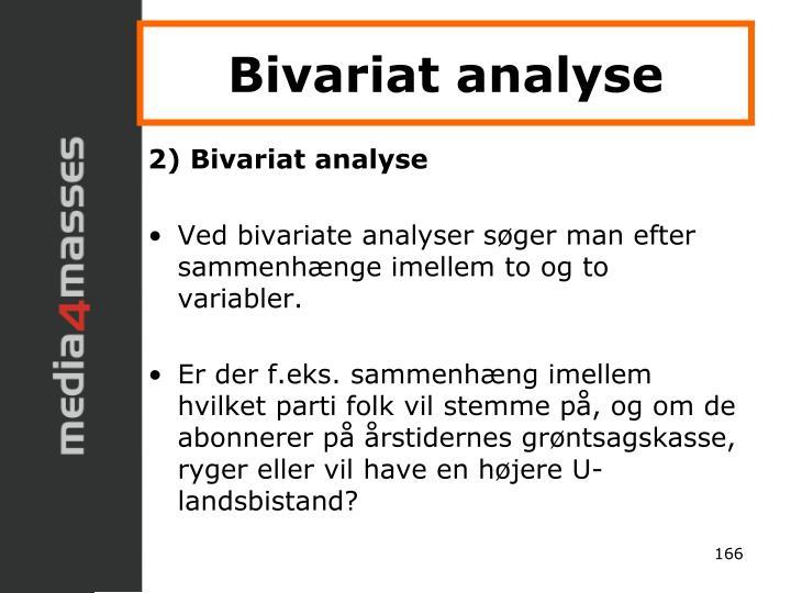 Bivariat analyse