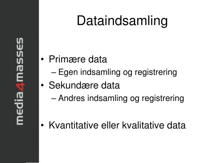 Dataindsamling