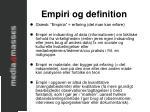 empiri og definition