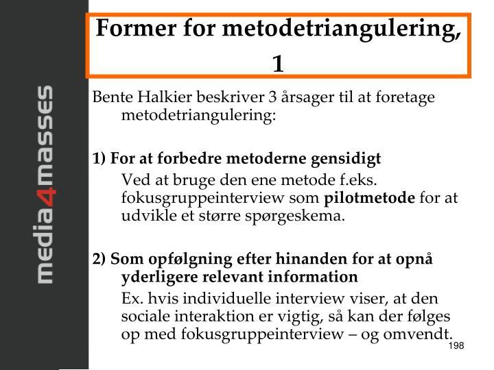 Former for metodetriangulering, 1
